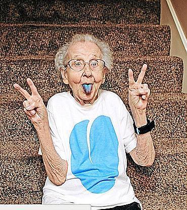 Betty Jo Simpson, la 'abuela de Instagram', en una fotografía de archivo.