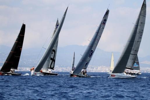 Imagen de la jornada de este martes en la Bahía de Palma durante la disputa de la segunda jornada de la Copa del Rey de Vela.