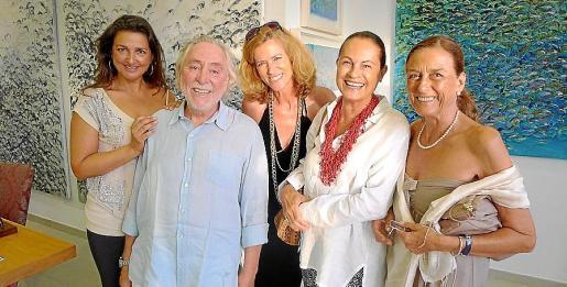 Carolina Amigó, Alberto Rosselló, la galerista Renate Pentzien, Elisabet Rosselló y Maribel Pizá.