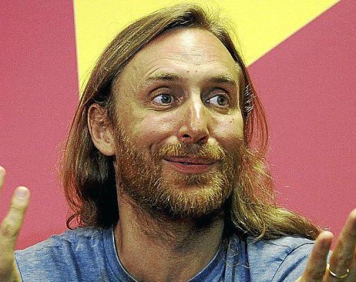El DJ y productor David Guetta, durante la rueda de prensa previa que ofreció antes de su actuación en Mallorca Rocks.