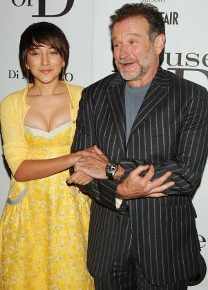 Zelda Williams con su padre Robin Williams.