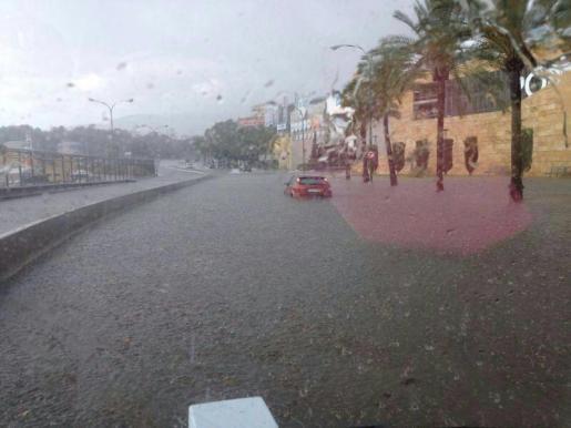 El mes de junio un fuerte temporal inundó el Passeig Marítim de Palma.