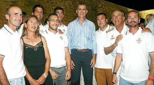 Roberto Ortiz, Natalia Díaz, Fernando Pita, Jonai Jiménez, Sergio Puig, el rey Felipe VI, Ángel Panceira, Jaime Rodríguez-Toubes e Ignacio Erroz.