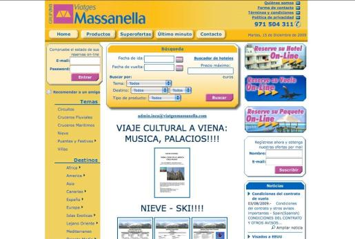 Imagen de la web de Viatges Massanella.