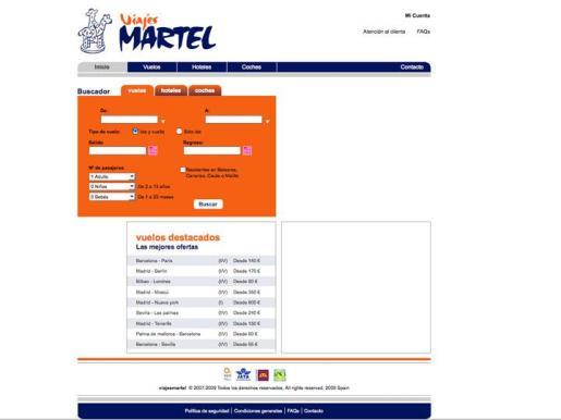Imagen de la web de Viajes Martell.
