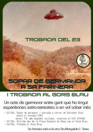Cartel de la 'Trobada del 23' en Sa Farinera.
