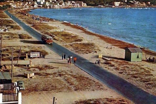 Aspecto que tenía s'Arenal a comienzos de la década de los años 50, cuando era una costa con kilómetros de playa virgen.