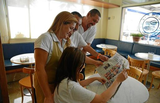 Durante toda la mañana de ayer, en Calvià y el Port d'Andratx, el periódico estuvo muy demandado.
