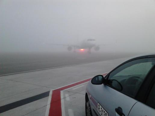 Imagen del aeropuerto de Palma, esta mañana.