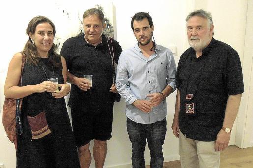 Clara Sevilla, Vicenç Ochoa, Gustavo Díaz Sosa y Joan Lacomba.