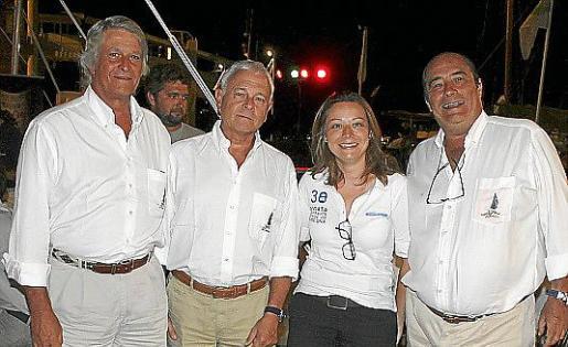 Raimundo Julià, Ramón Godó, Cristina Bono y José Suñer.