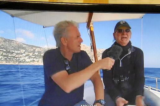 Un momento del reportaje emitido por la televisión alemana.
