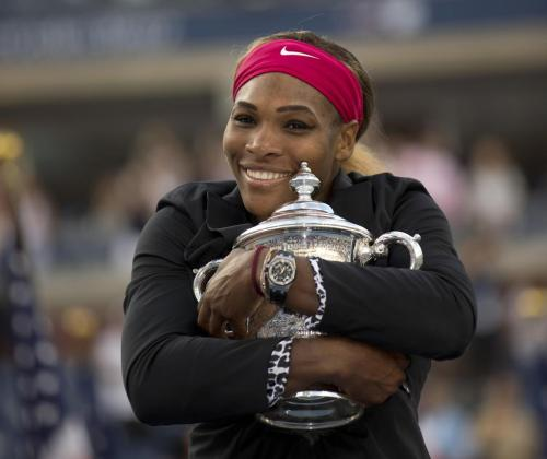 Serena Williams, tras su victoria.