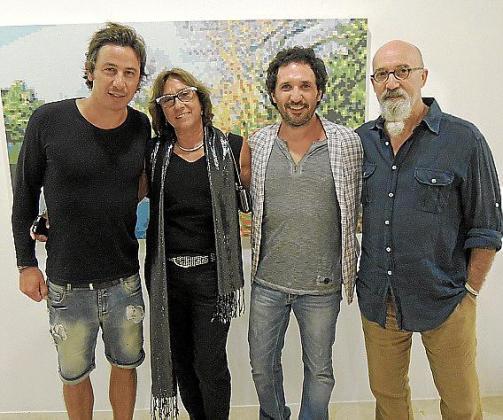 Miquel Fuster, Pilar Cerdà, Joan Peix y Miquel Mesquida.