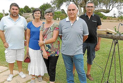 Andreu Lladó, Catalina Manresa, Àngela Garcias, Tomeu Puigserver y Sebastià Ginard.