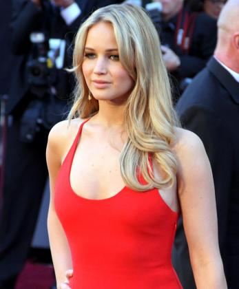 La actriz Jennifer Lawrence durante un acto promocional.