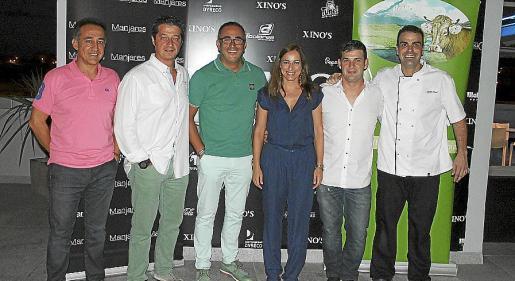 Pepe y Javier Torrens, Pedro Mesquida, Ana Lozano, Tomás Arias y Carlos Abad.