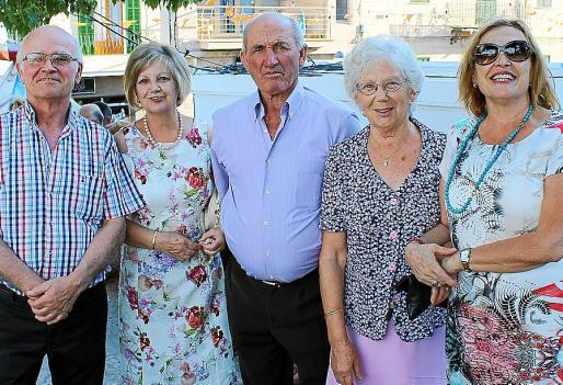 Joan Bestard, Margalida Coll, Biel Jaume, Catalina Pons y Aina Coll.