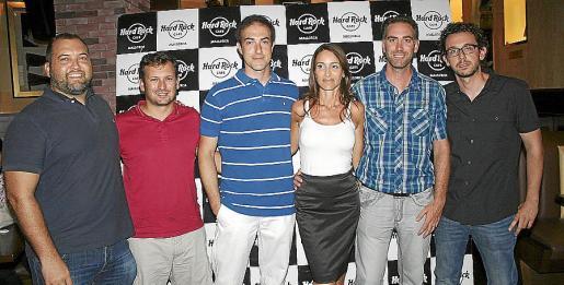 Juan Gálvez, Carlos Hellín, David Monge y Pepa Vidal -sub director y directora de EDIB-; Patxi Pérez de Albéniz y Toni Rigo.