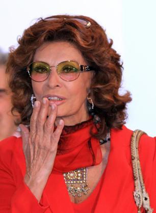 La actriz italiana Sophia Loren, ayer en una rueda de prensa en Ciudad de México.