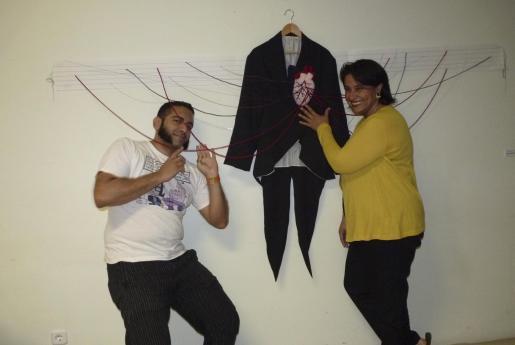 Harold Jiménez y Luisa Zarate, director artístico y profesora de textiles de la Escola de Disseny.