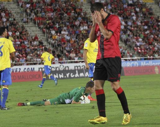 Marko Scepovic durante el empate a un gol del Real Mallorca en Son Moix ante Las Palmas.