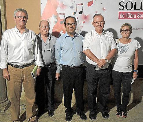 Llorenç Julià, Toni Santandreu, Rafael Santiso, Pancho Roses y Maya Panadés.