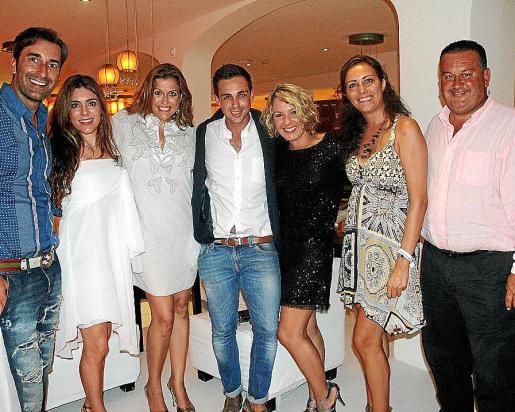 Andrés Llompart, Plácida Mariño, Lucila Siquier, Oscar Royo, Naima Piquer, Idoia Ribas y Pedro Villalonga.