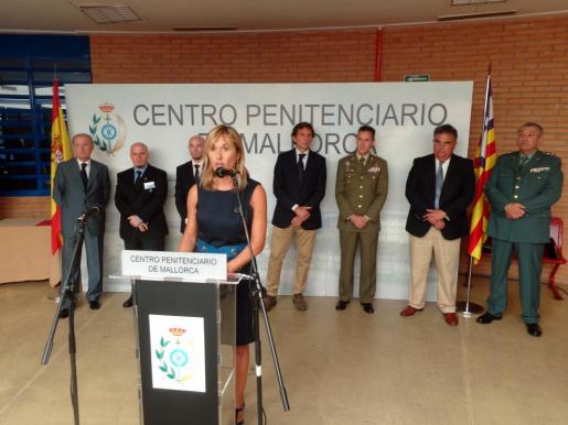 Teresa Palmer, en un momento de su intervención durante la festividad de la Merced, celebrada este mediodía en Palma.