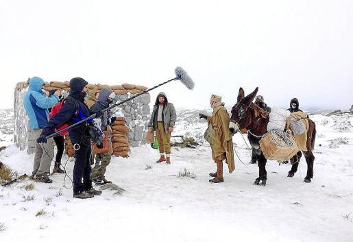 Rodaje de una de las escenas de 'El destierro', dirigida por Arturo Ruiz.