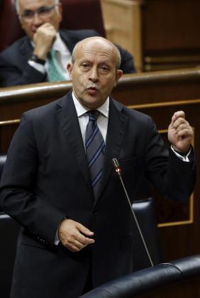 El ministro de Educación, Cultura y Deporte, José Ignacio Wert, durante su intervención en la sesión de control al Gobierno que se celebró el pasado miércoles en el Congreso de los Diputados.