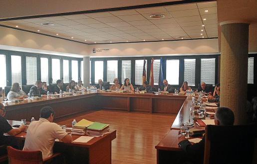 Momento de la sesión plenaria celebrada este jueves en Calvià.
