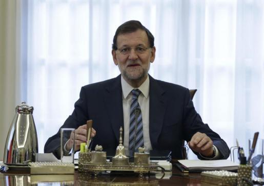 Mariano Rajoy, esta mañana en el Consejo de Ministros.