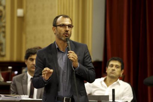 El líder de MÉS per Mallorca Biel Barceló este martes en el Parlament.