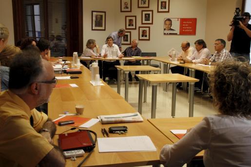 Imagen de la reunión de la Ejecutiva del PSIB ayer.