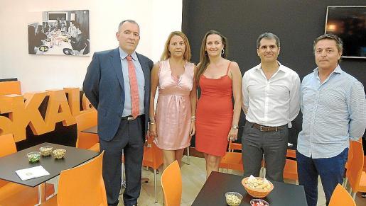 Juan Antonio Tormo, Marta Seguí, Cristina Seguí, Àngel Llull y Rafel Nadal.