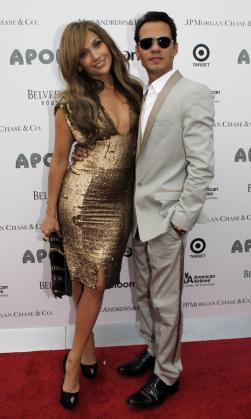 Jennifer López y Marc Anthony fueron muy conjuntados.