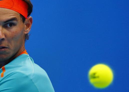 Rafael Nadal, en su partido ante Gasquet, que le dio el pase al partido ganado hoy ante Gojowczyk.
