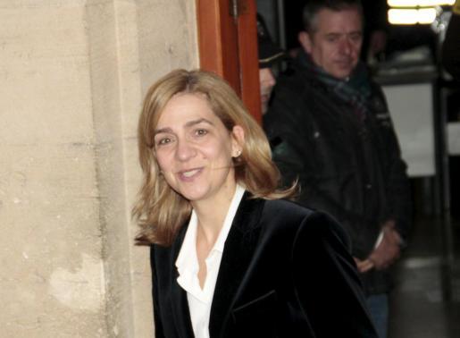 La Infanta Cristina, saliendo de declarar ante el juez José Castro el pasado mes de febrero.
