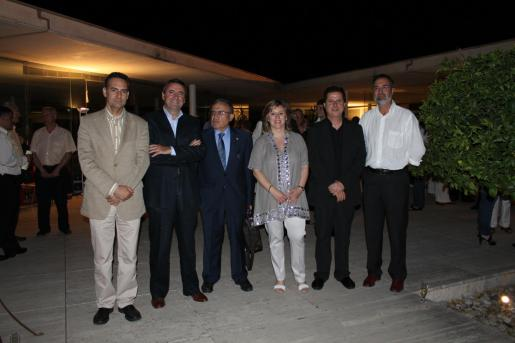 Xavier Ramis, Pere Rotger, Santiago Panizo, Pilar Rosselló, Andreu Riera y Pere Sampol.