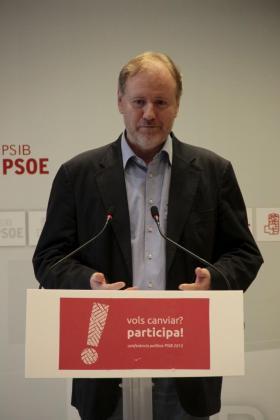 Ramón Socías ha ofrecido una rueda de prensa este lunes.