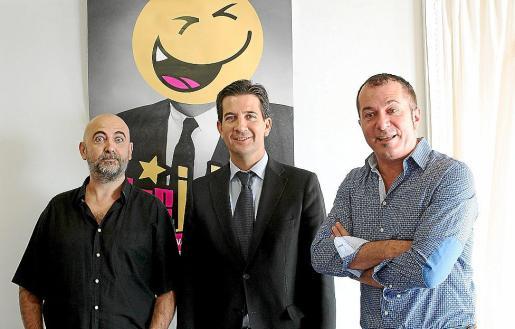 Ricky López, Fernando Gilet y Agustín 'El Casta' durante la presentación de la nueva edición del Festival del Humor.