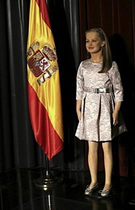 Presentación de las esculturas de cera del rey Felipe VI, la reina Letizia y la de su hija, la princesa de Asturias, Leonor de Borbón, en el Museo de Cera de Madrid.