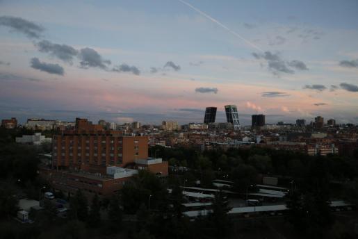 Vista general de Madrid con el Hospital Carlos III a la izquierda.