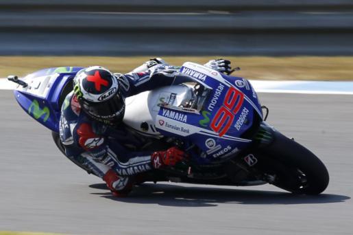 El español Jorge Lorenzo, durante la sesión de clasificación del Gran Premio de Japón.