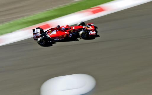 Fernando Alonso, en acción durante la sesión de clasificación.