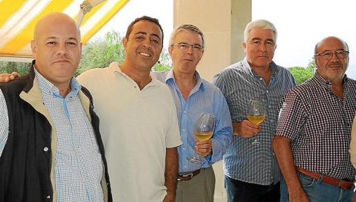 Fernando Gil, Jesús Salas, Llorenç Julià, Joan Gili y Pedro Llaneras.