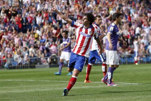 El jugador del Atlético de Madrid Tiago Mendes celebra su gol.