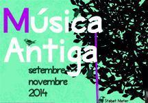 Cartel del ciclo Música Antiga.