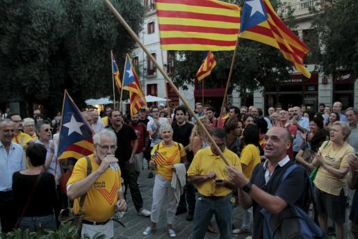 Imagen de la concntración en Palma del pasado 30 de septiembre en apoyo de la consulta del 9-N.